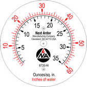custom pressure gauge dial with logo