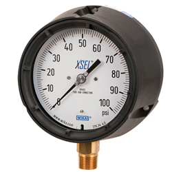 Process bourdon tube pressure gauges described and option to buy gauges