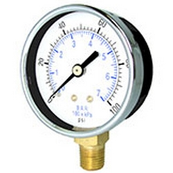 Utility bourdon tube pressure gauges described and option to buy gauges
