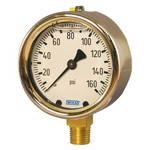 "WIKA 213.40 - 2.5"" Dial - 0-1000 psi/kPa Pressure Gauge  - Stainless Front Flange"