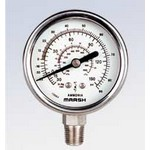 "MARSH W0042 - 3.5"" Dial - 0-300 psi/Deg F Refrigeration Gauge"
